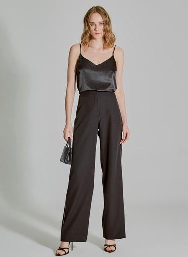 People By Fabrika Taş Şerit Detaylı Pantolon Siyah